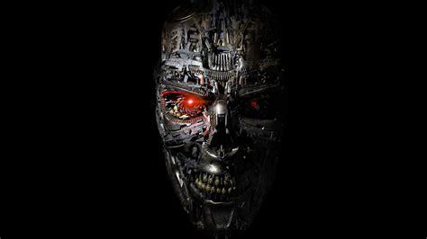 full hd wallpaper terminator genesys robot skull gun face