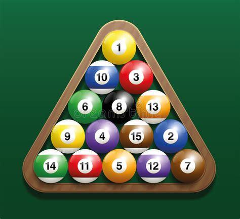 how to rack pool balls pool billiard balls rack starting position stock vector