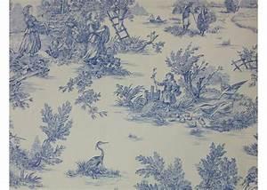 Housse De Couette Toile De Jouy : tissu 100 coton motif toile de jouy ~ Teatrodelosmanantiales.com Idées de Décoration