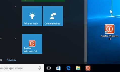 application windows phone pour ordinateur de bureau windows 10 créer un raccourci pour arrêter ou émarrer