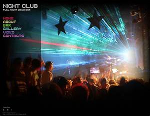 Php News Website Templates Night Club Flash Photo Video Gallery Template