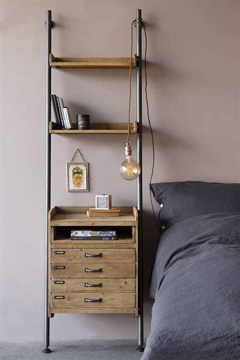 Shelf With Drawers by Industrial Style Ladder Shelf Unit With 2 Drawers