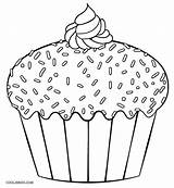 Cupcake Coloring Cupcakes Pages Printable Print Template Cake Cakes Sweets Ice Muffin Cool2bkids Children Yummy Colouring Sheets Easy Dibujo Simple sketch template