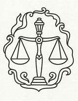 Justice Scales Libra Coloring Zodiac Drawing Tattoo Symbol Pages Scale Tattoos Symbols Signs Drawings Horoscope Sign Balance Printable Sketch Mockingbird sketch template