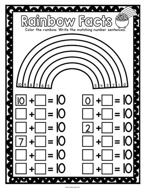 st patrick s day kindergarten math activities pack print
