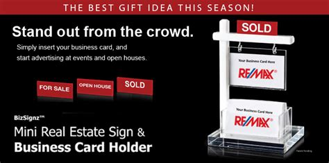 The Mini Real Estate Sign & Business Card Holder