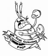 Coloring Mr Krabs Pages Mustache Angry Lumberjack Getcolorings Moustache Printable Netart sketch template