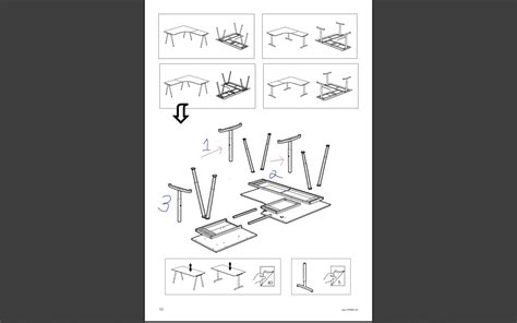staples corner desk assembly instructions ikea effektiv images frompo