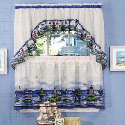 lighthouse bathroom decor nautical curtains ebay