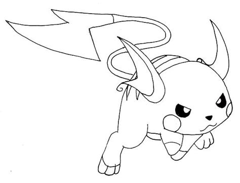 Kleurplaat Raichu by Raichu Coloring Pictures Part 1 Free Resource For Teaching