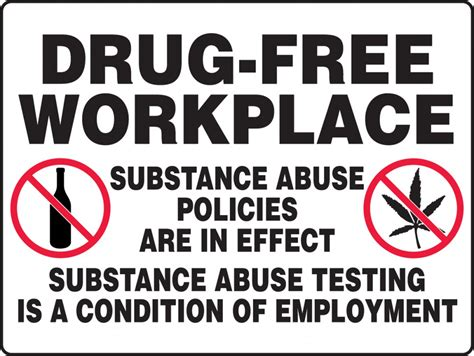 Free Workplace Sign Workplace Policy Sign Sku Substance Abuse Really Bigsigns Free Workplace