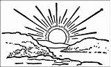 Sunrise Coloring Pages Drawings Designlooter 627px 92kb 1024 sketch template