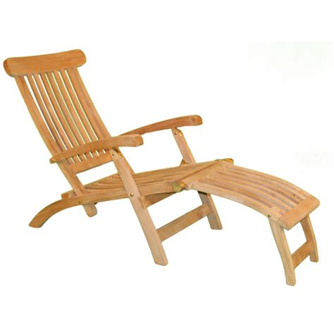teak chaise lounge chair in outdoor lounges