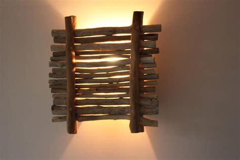 applique murale en bois flotte applique bois flott 233 100 r 233 cup luminaires par latitude42 02