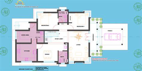 house floor plan designer 2200 sq ft villa with line elevation kerala home