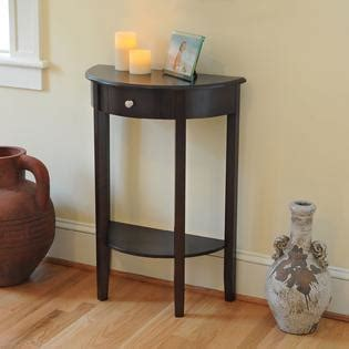 half moon table with drawer bay shore collection half moon table with