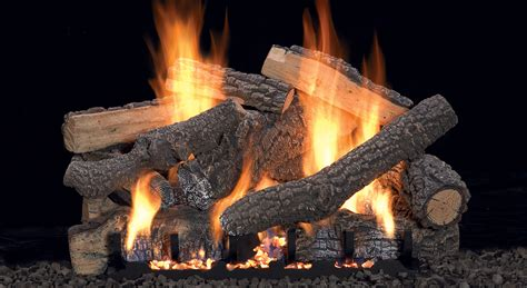 gas fireplace logs traditional log sets white mountain hearth