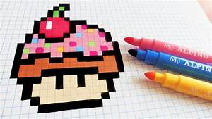 Pixel Art Manger : handmade pixel art how to draw cupcake mushroom ~ Melissatoandfro.com Idées de Décoration