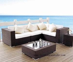 outdoor rattan weave sofa set garden patio furniture With patio furniture covers makro