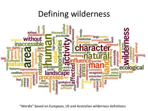 wilderness mapping register focus europe special continuum implications practical its wordle