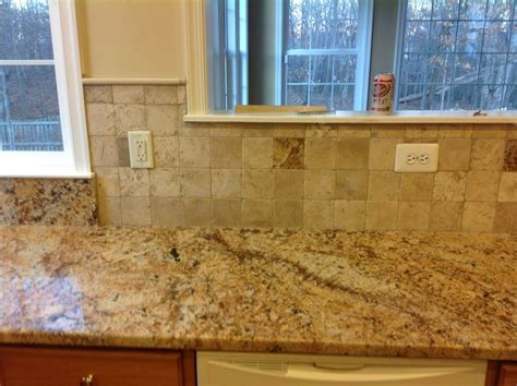 Backsplash For Busy Granite Countertops  Diana G