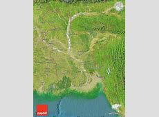 Satellite Map of Bangladesh