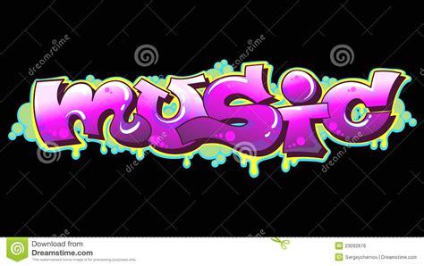 Graffiti Music : Graffiti Music Urban Art Stock Vector. Illustration Of
