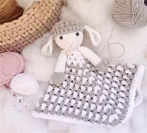 Manta De Apego Oveja De Ganchillo Para Beb U00e9s  Crochet