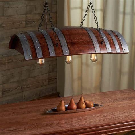 wine barrel light one third oak wine barrel chandelier id lights
