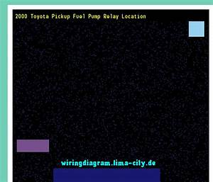 2000 Toyota Pickup Fuel Pump Relay Location  Wiring