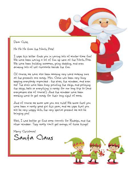 printable letters  santa claus christmas printables