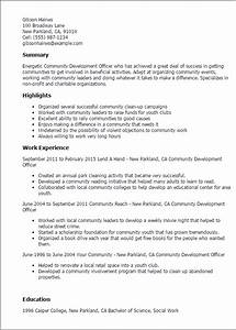 1 community development officer resume templates try for Resume development services