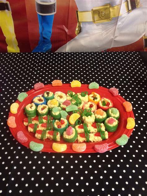 ranger cuisine power ranger birthday food power ranger army