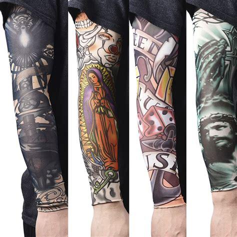 pcs nylon fake temporary tattoo sleeves tatoo arms
