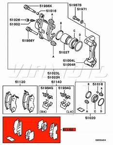 Viamoto Mitsubishi Car Parts Front Brake Pad Shim Kit