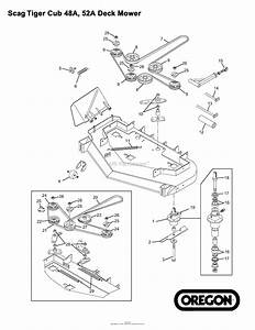 Oregon Scag Parts Diagram For Scag Tiger Cub 48a  52a Deck