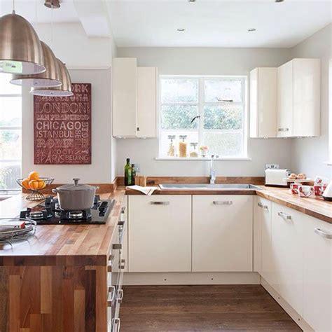 cream kitchen  solid wood worktops home decor