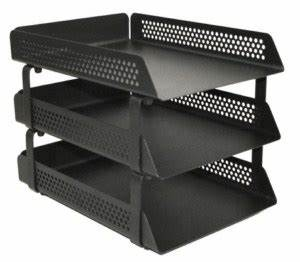 perforated steel letter tray 3 tier black choice With 3 tier letter tray