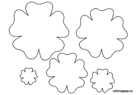 small paper flower templates flower template printable coloring page clip library