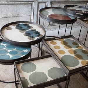 Plateau En Verre Rond : acheter notre monde plateau en verre slate layered dots ~ Teatrodelosmanantiales.com Idées de Décoration