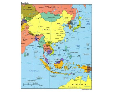 Maps of East Asia (East Asia maps) | Collection of ...