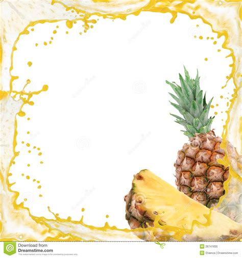 Pineapple Splash Stock Photo Image Of Antioxidant Motion