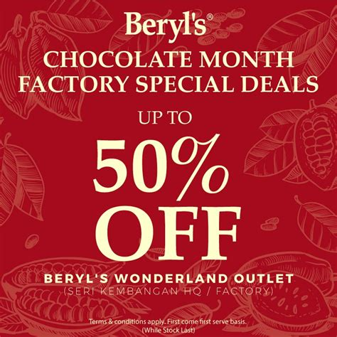 beryls chocolate month factory special deals