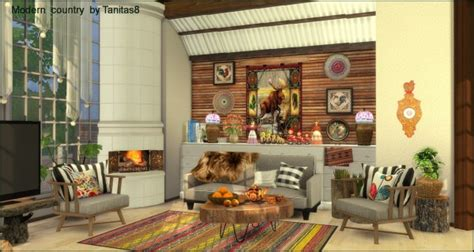 tanitas sims modern house  country style sims  downloads
