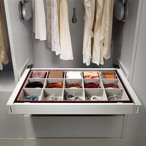 Closet Hardware by Symmetry Jewelry Drawer Pull Out Soft 800mm Cabinet