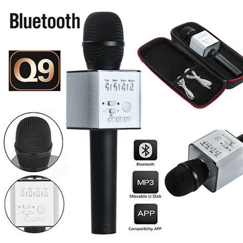 q9 wireless bluetooth microphone portable karaoke stereo