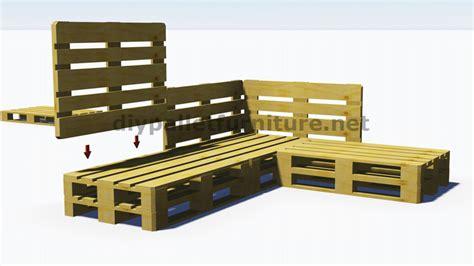 construire un canape avec des palettes et plans 3d de la façon de faire un canapé