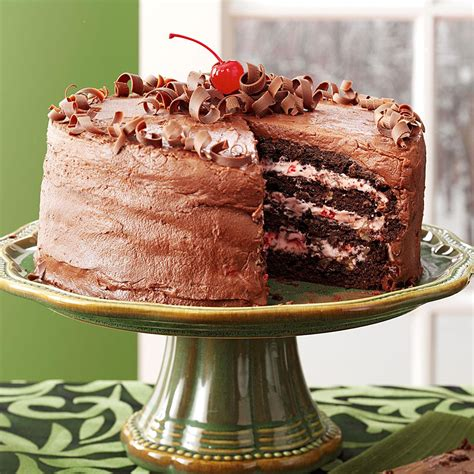 cherry chocolate layer cake recipe taste  home