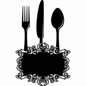 Couvert De Cuisine : stickers ardoise cuisine couverts pas cher ~ Teatrodelosmanantiales.com Idées de Décoration