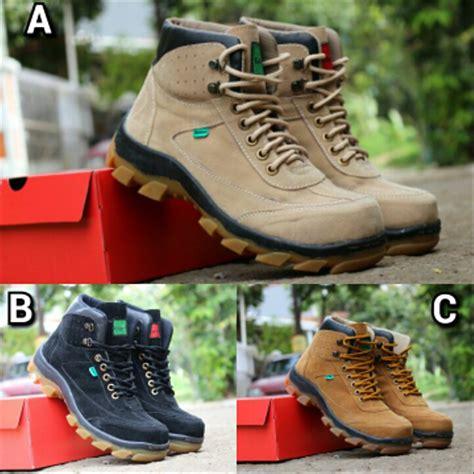 jual sepatu boots pria kickers safety ujung besi kickers safety boot sepatu kerja lapangan